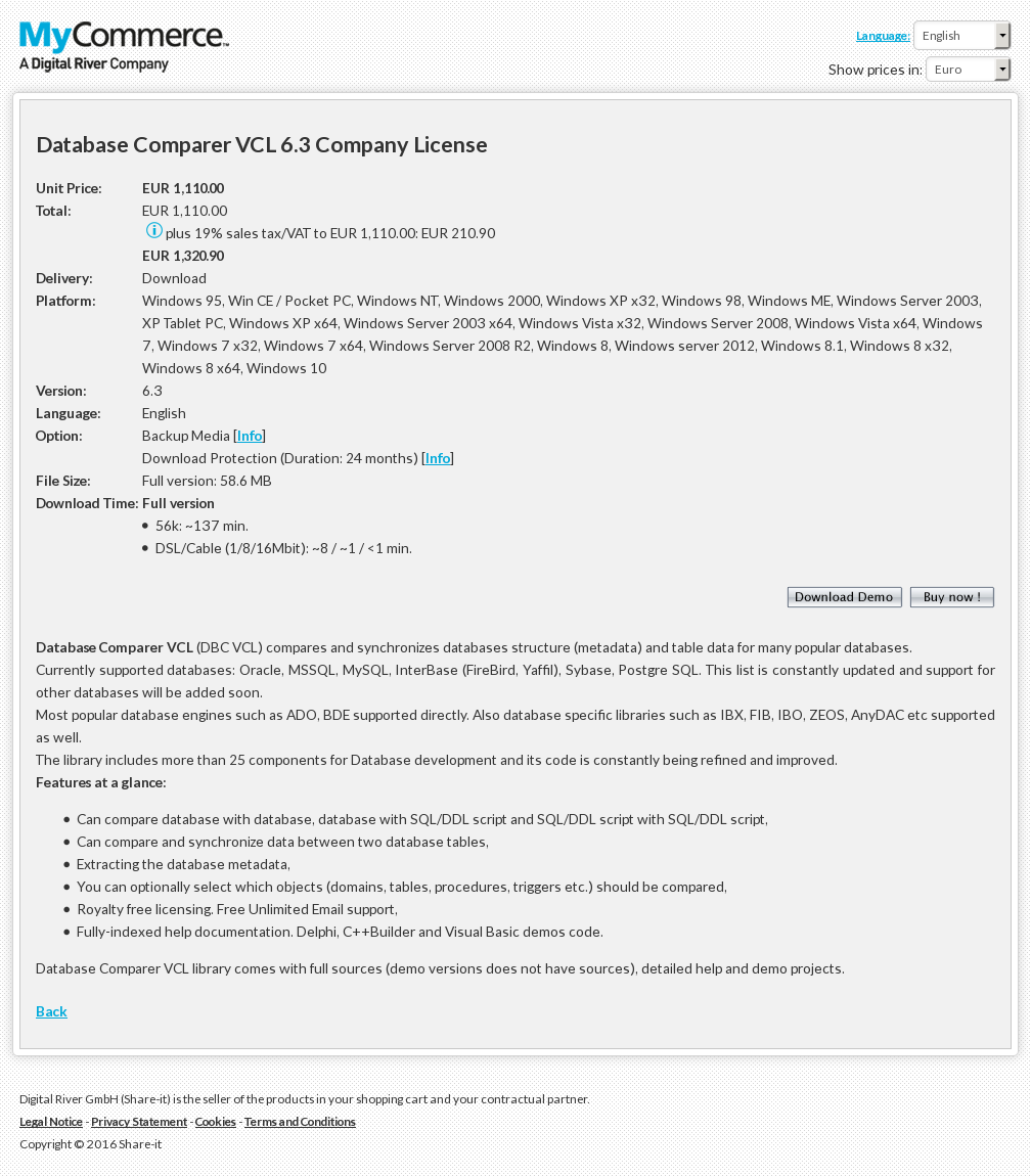 Database Comparer Vcl Company License