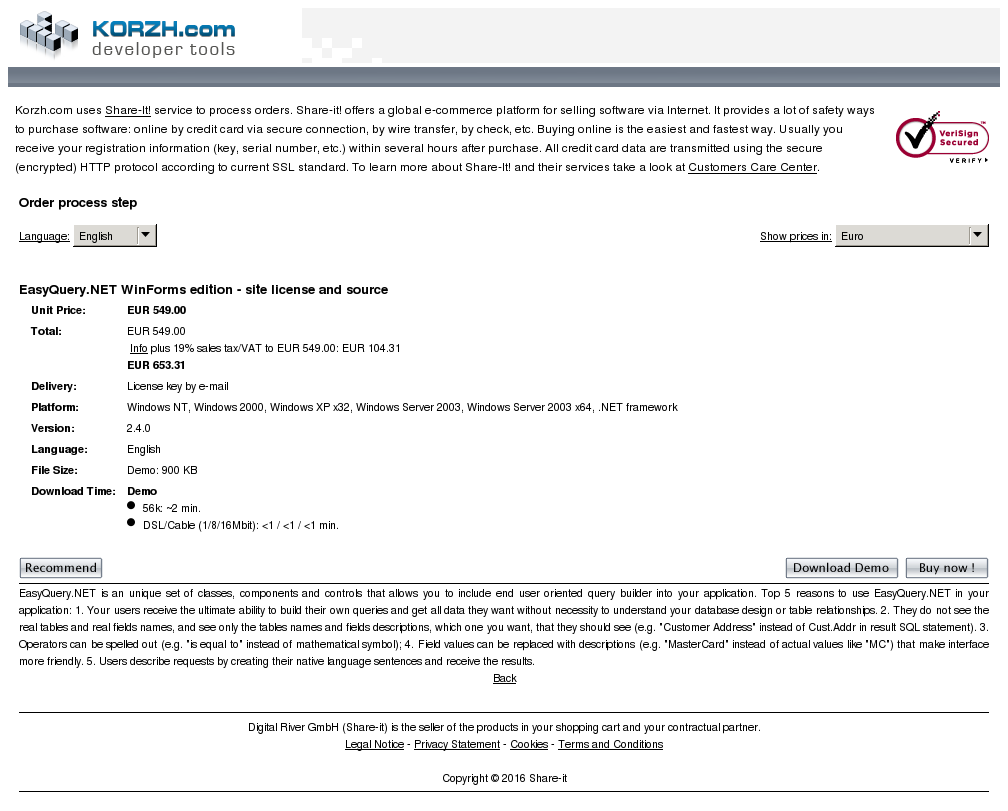 Easyquery Net Winforms Edition Site License Source
