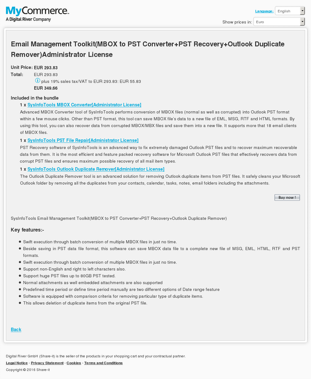 Email Management Toolkit Mbox Pst Converter Recovery Outlook Duplicate Remover Administrator License Download