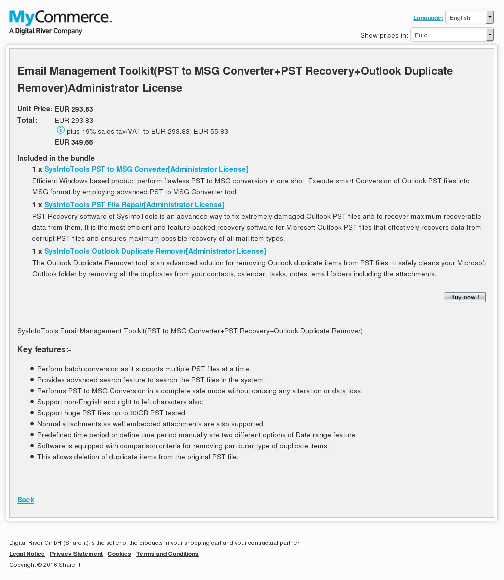 Email Management Toolkit Pst Msg Converter Recovery Outlook Duplicate Remover Administrator License Download
