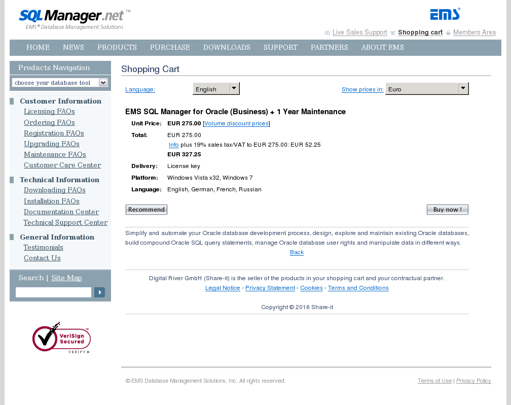 Ems Sql Manager Oracle Business Year Maintenance