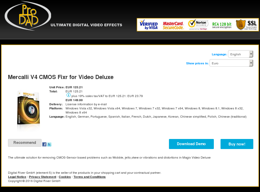 Mercalli Cmos Fixr Video Deluxe Features