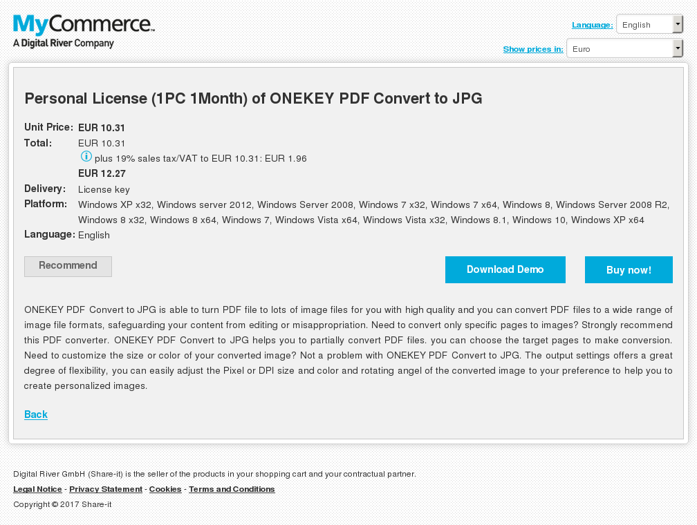 Personal License Month Onekey Pdf Convert Jpg Review