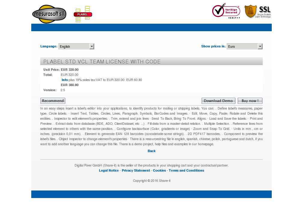 Plabel Std Vcl Team License With Code