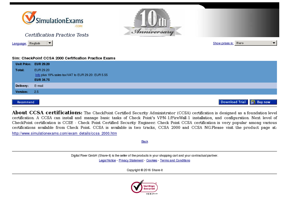 Sim Checkpoint Ccsa Certification Practice Exams Free