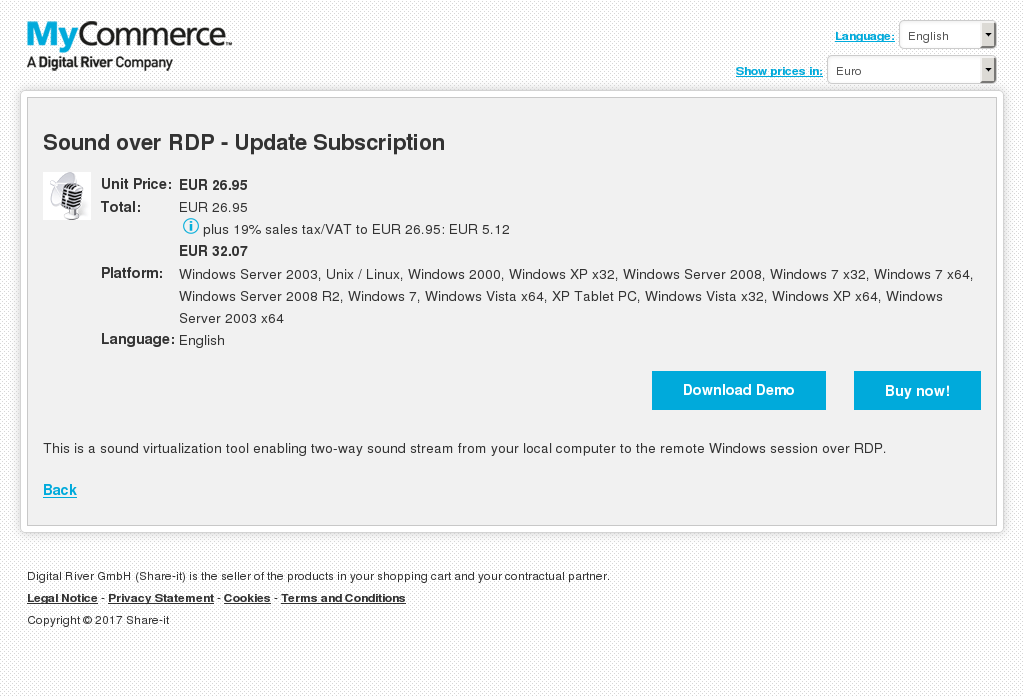 Sound Over Rdp Update Subscription Features