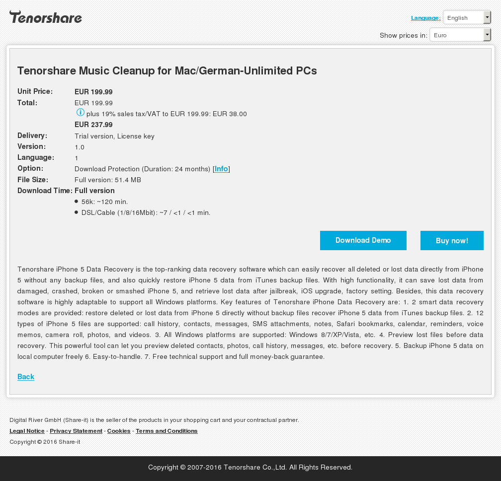 Tenorshare Music Cleanup Mac German Unlimited Pcs Review