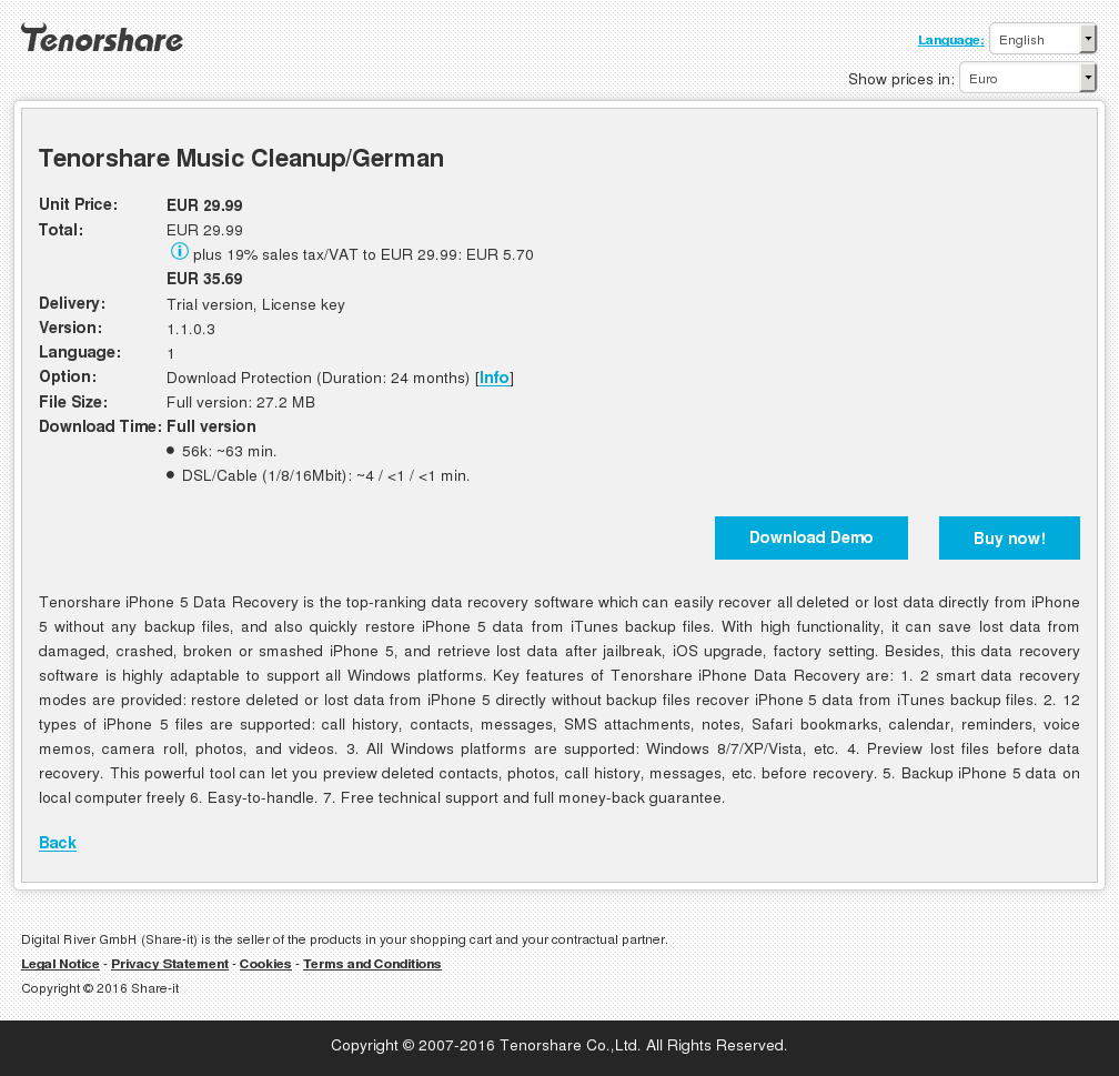 Tenorshare Music Cleanup German Download