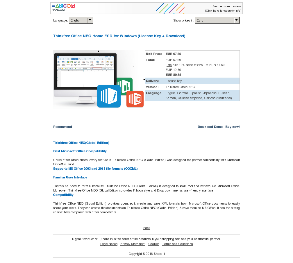 Thinkfree Office Neo Home Esd Windows License Key Download Review