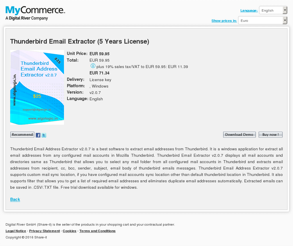 Thunderbird Email Extractor Years License Free