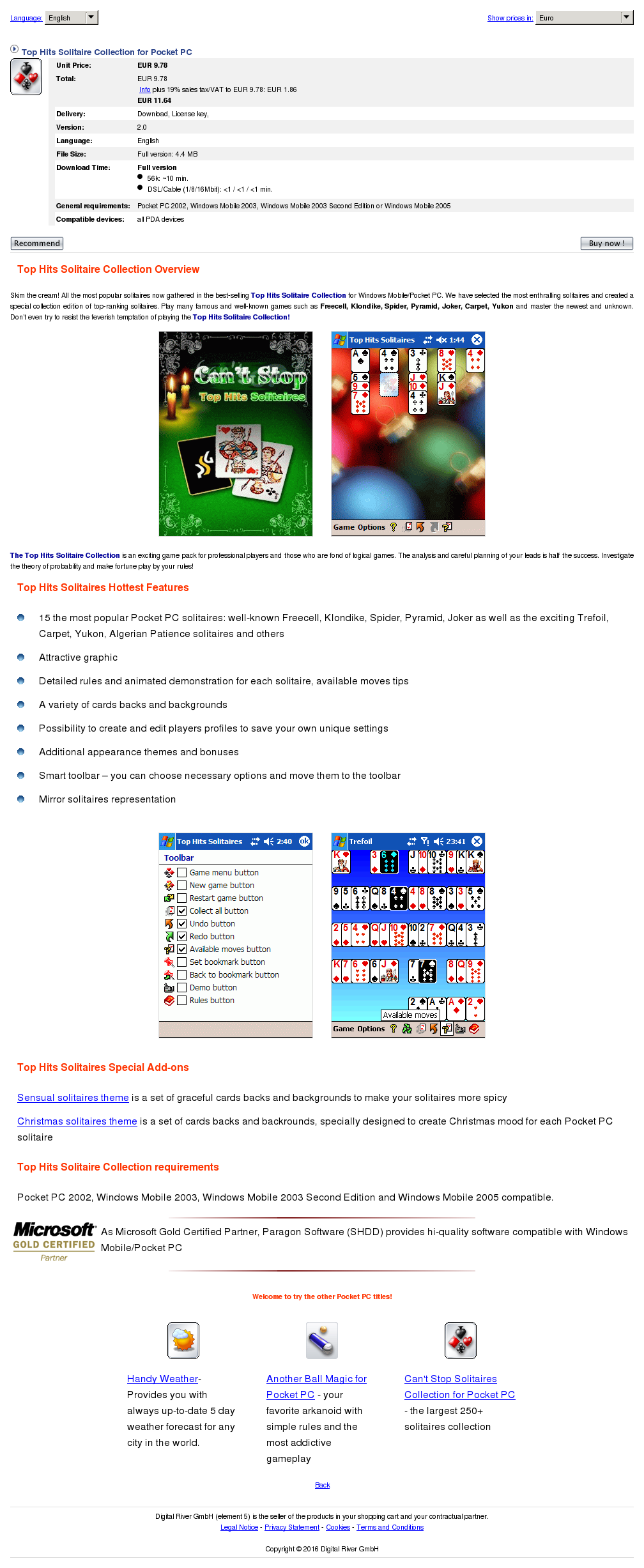 Top Hits Solitaire Collection Pocket Download
