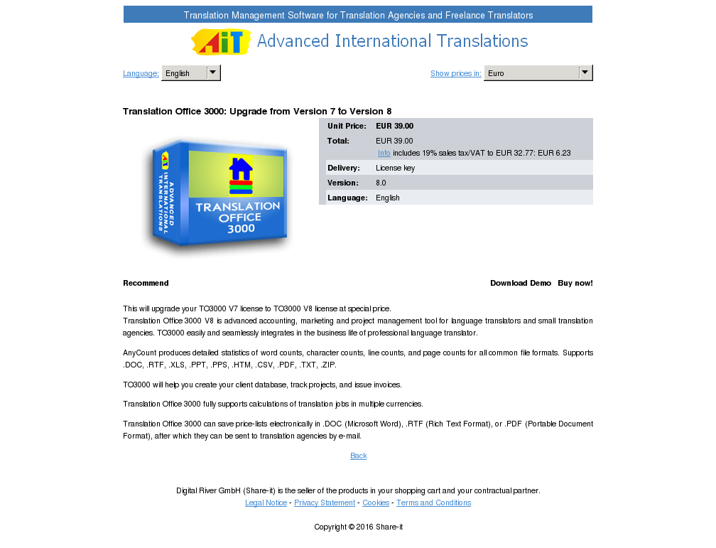 Translation Office Upgrade From Version Review